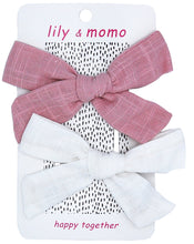 Load image into Gallery viewer, Sailor Cloth Bows - Rose & Ivory