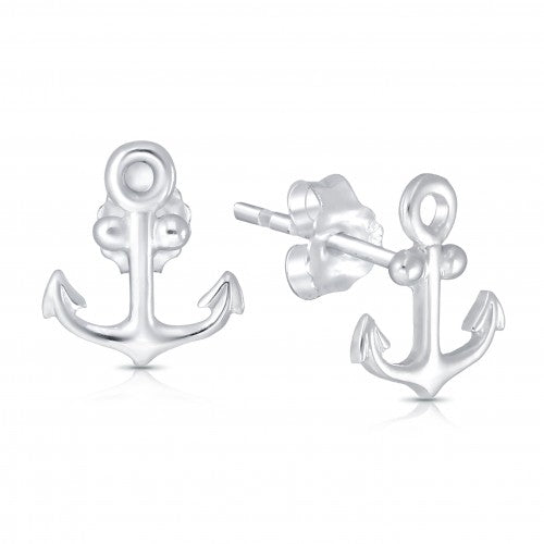 Anchors Away Sterling Silver Earrings
