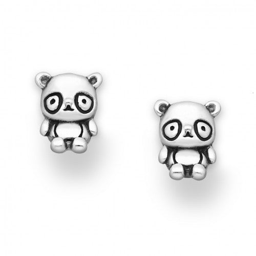 Little Panda Sterling Silver Earrings