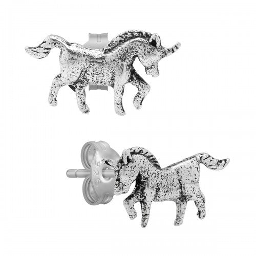 Unicorn Sterling Silver Earrings