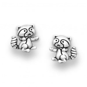 Little Raccoon Sterling Silver Earrings