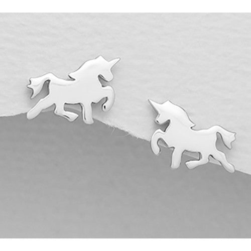 Fly Away Unicorn Sterling Silver Earrings