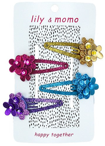 Four Flowers Hair Clip