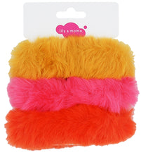 Load image into Gallery viewer, Furry Scrunchie Trio