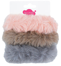 Load image into Gallery viewer, Furry Scrunchie - Soft Pink, Fawn, Grey