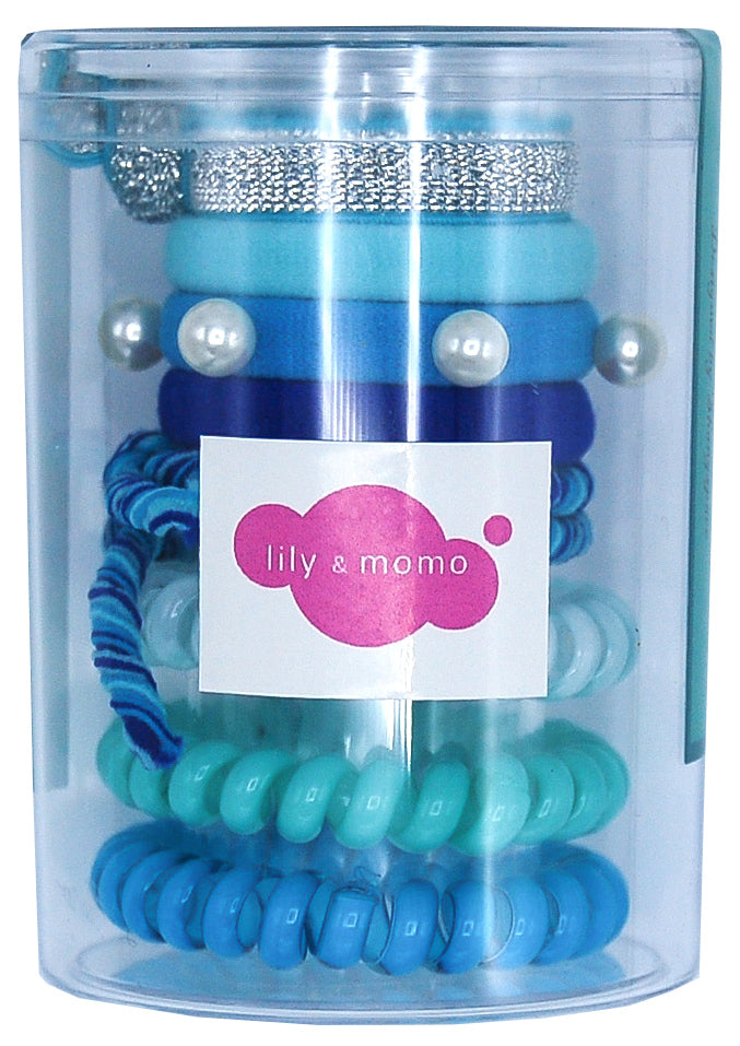 Hair Ties Color Pop Set - Aqua