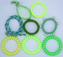 Load image into Gallery viewer, Hair Ties Color Pop Set - Neon Green