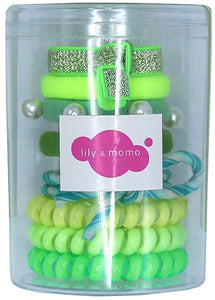 Hair Ties Color Pop Set - Neon Green