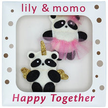 Load image into Gallery viewer, Panda Pals Hair Clips