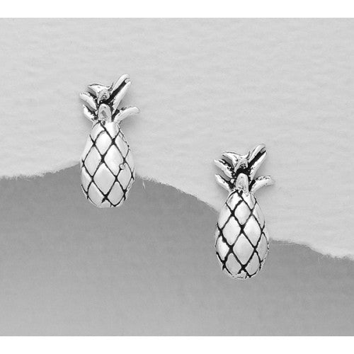 Pretty Pineapple Sterling Silver Earrings