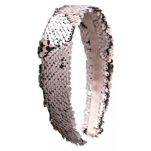Sequin Headband - Silver