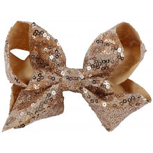 Load image into Gallery viewer, Small Sequin Bow - Gold