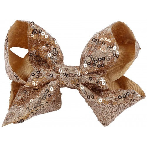 Small Sequin Bow - Gold