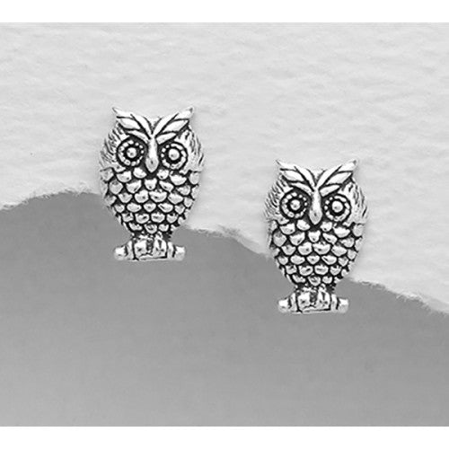 Sweet Owl Sterling Silver Earrings