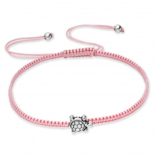 Sweet Petite Turtle Adjustable Bracelet - Pink