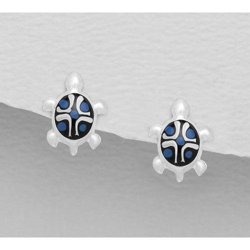 Turtle Star Sterling Silver Earrings