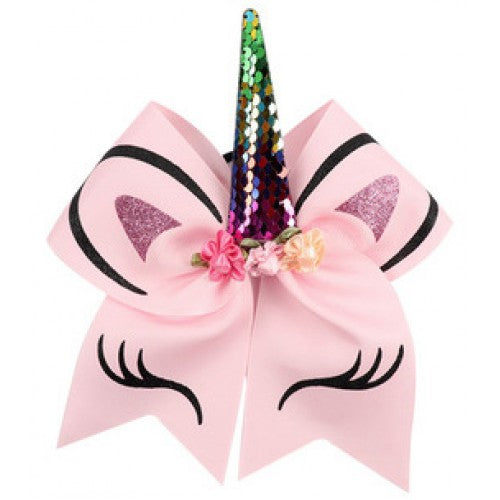Unicorn Bow - Ponytail Holder - Pink
