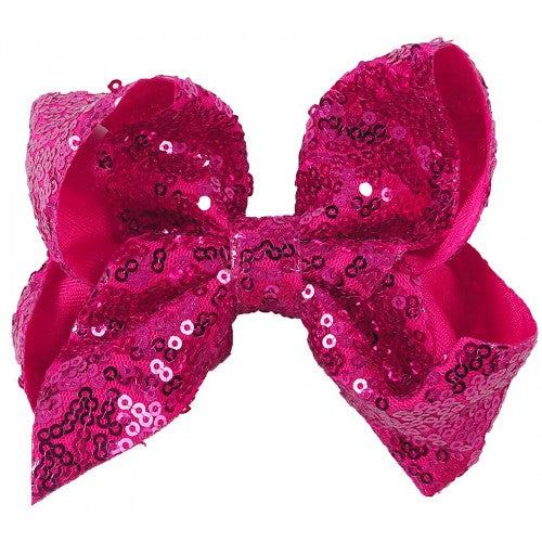 Small Sequin Bow - Pink