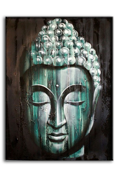 Wood Buddha Green 80x60cm