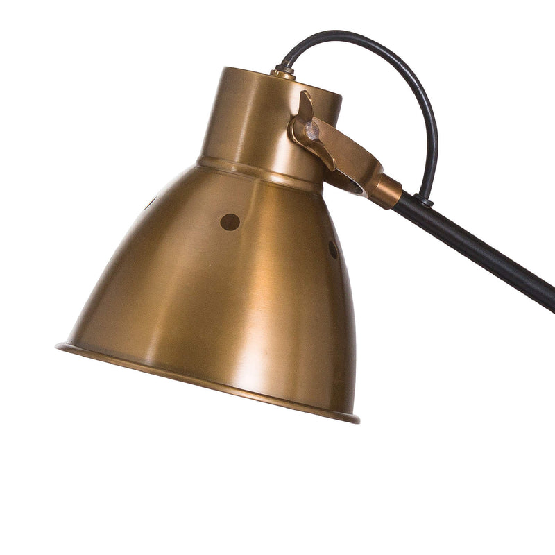 Black And Gold Industrial Table Lamp