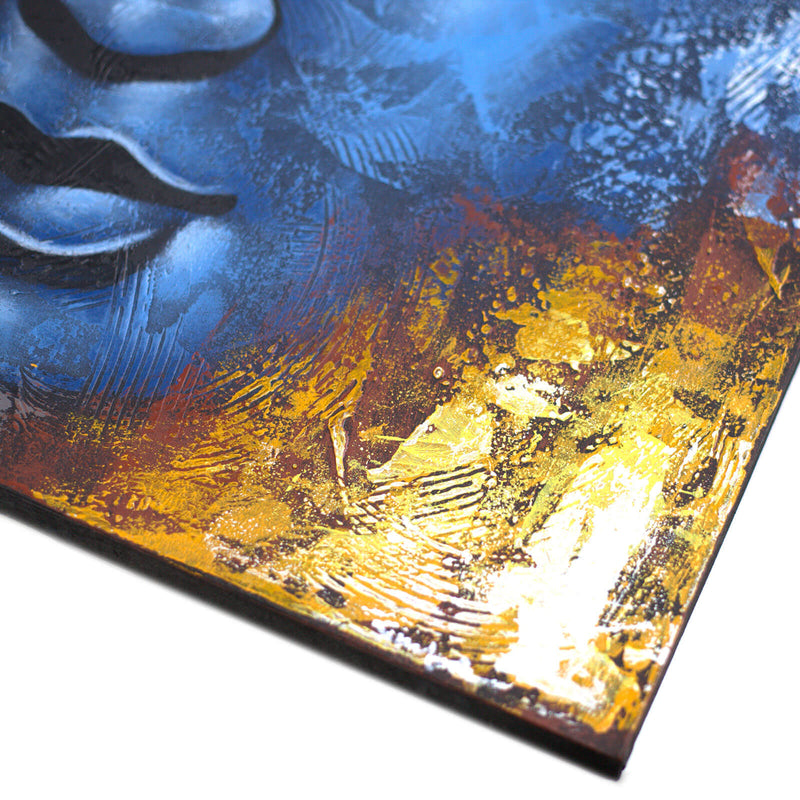 Blue Face Abstract Buddha 80x60cm