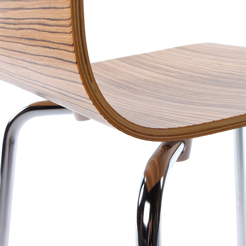 CLASSIC Dining Design Chair Walnut / Zebrawood / Natural