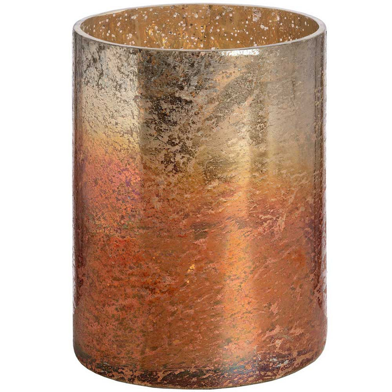 Copper Ombre Metallic Glass Candle Holder