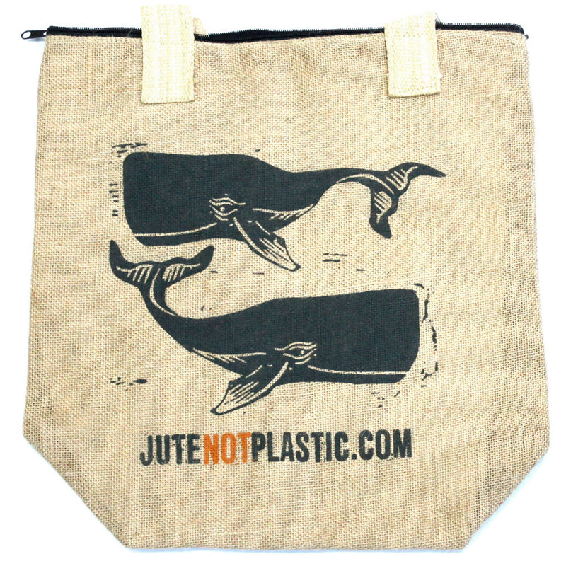 ECO Jute Bag - Two Whales