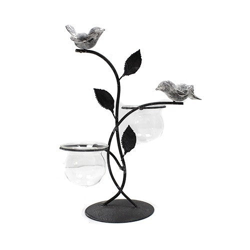 Hydroponic Décor - Two Birds and Pots Stand