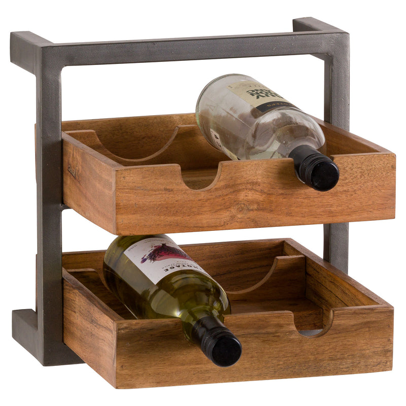 Live Edge Collection 4 Bottle Wine Rack
