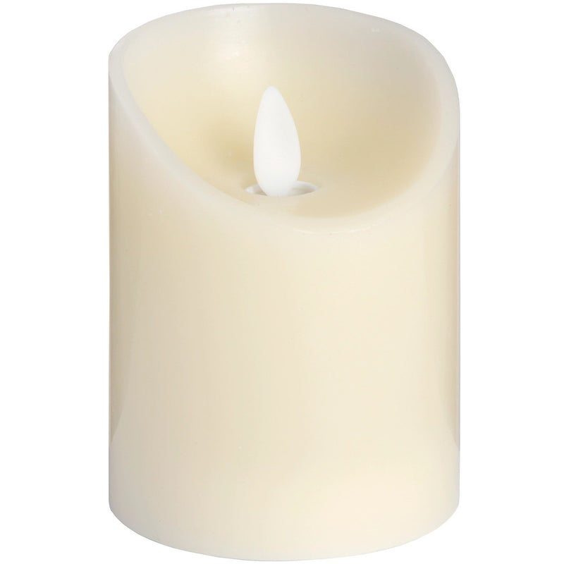 Luxe Collection Cream Flickering Flame LED Wax Candle