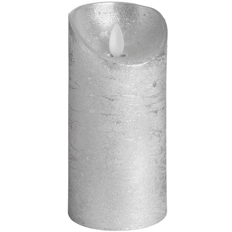 Luxe Collection Silver Flickering Flame LED Wax Candle