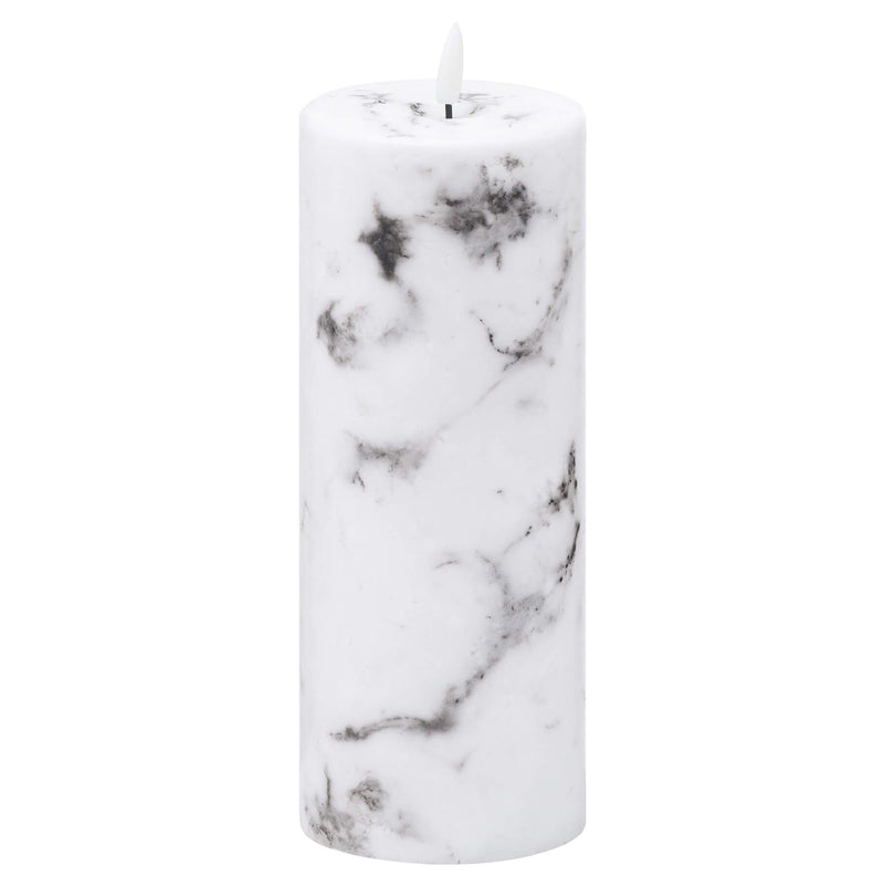 Luxe Collection Natural Glow Marble Effect LED Candle