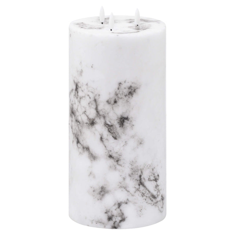 Luxe Collection Natural Glow Marble Effect LED Candle - 3 Wick