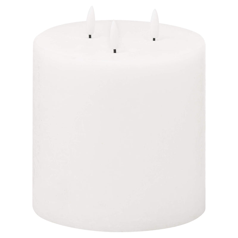 Luxe Collection Natural Glow White LED Candle - 3 Wick