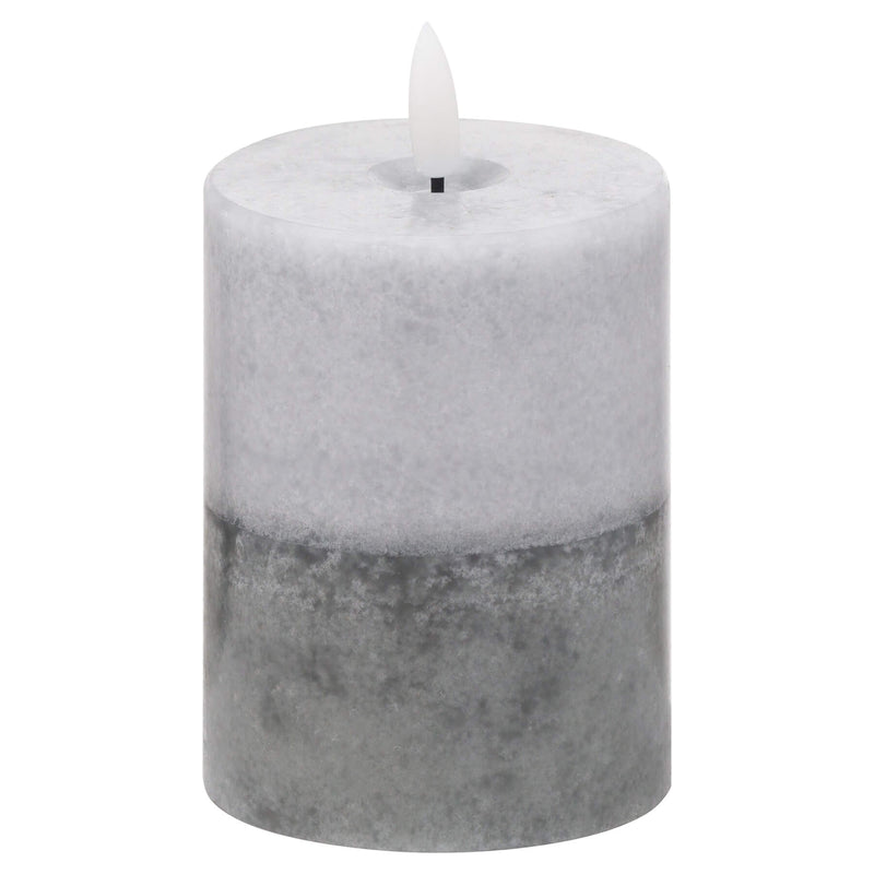 Luxe Collection Natural Glow Grey Dipped LED Candle