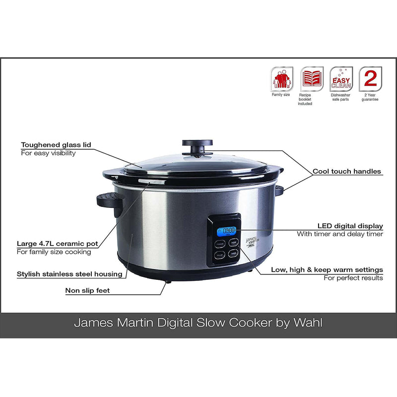 James Martin by Wahl Digital Slow Cooker 4.7L