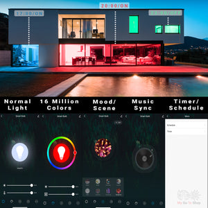 Load image into Gallery viewer, WiFi Smart LED Light Color Changing Bulb 12w 15w 16 Million Colours Dimmable Compatible with Alexa + Google Home + Smart Life APP + Tuya