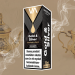 Innovation Gold and Silver 10 ml vape juice. A strong flavour of traditional English tobacco and black tea aftertaste.