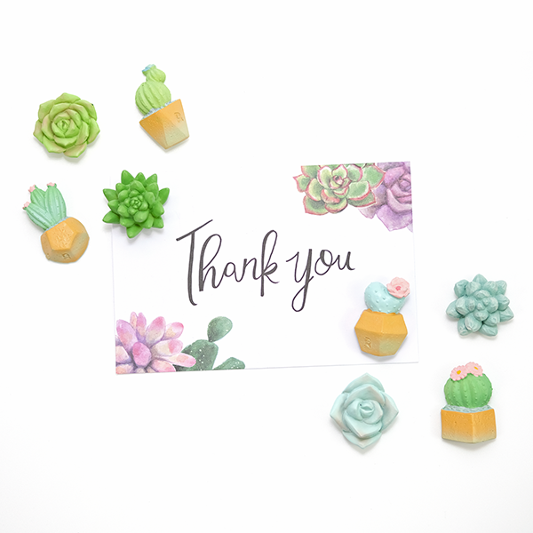 Succulent and Cactus-shaped Fridge Magnets - 8 pcs