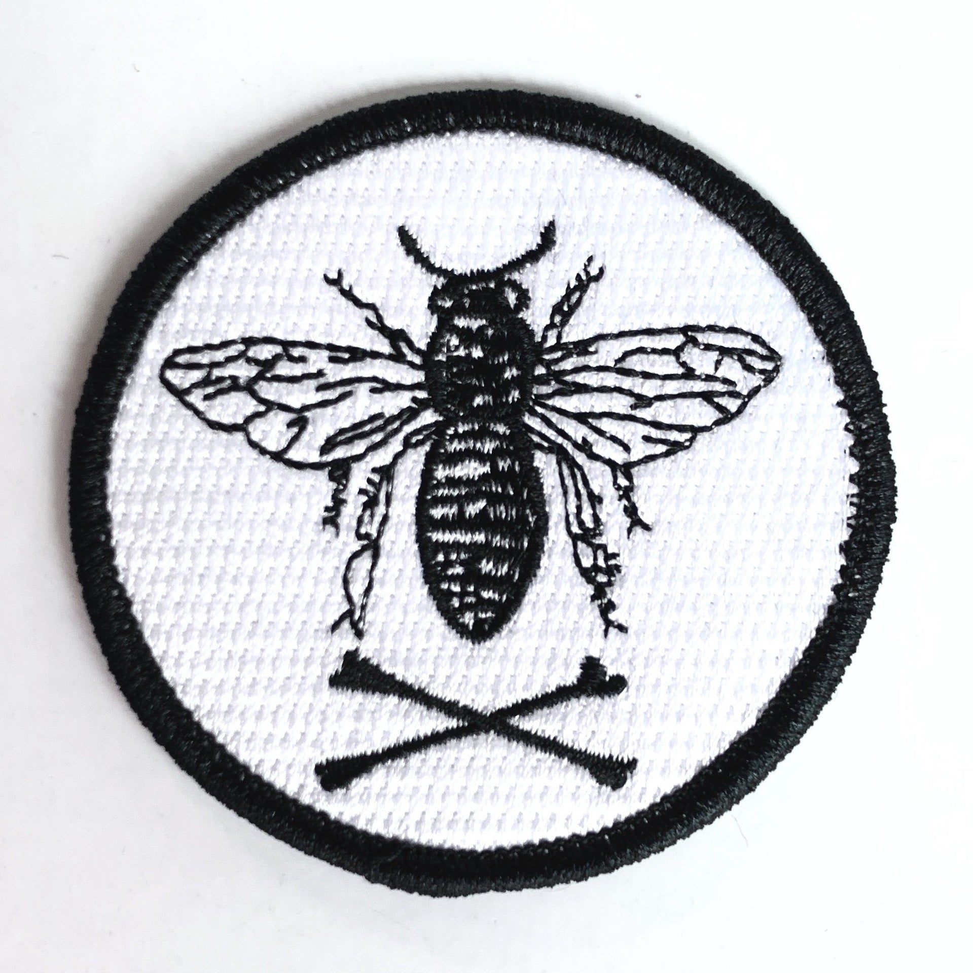 Bee and Crossbones Patch