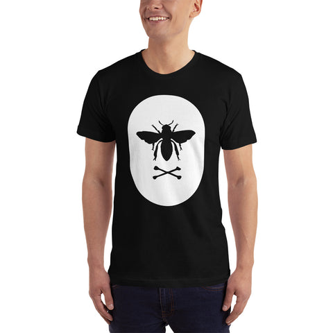 Bee and Crossbones White Print T-Shirt (multiple colors)