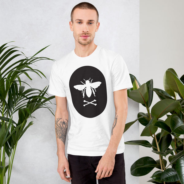 Bee and Crossbones Black and White Print T-Shirt (multiple colors)