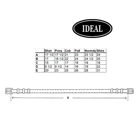 Ideal Bellyband Measurements
