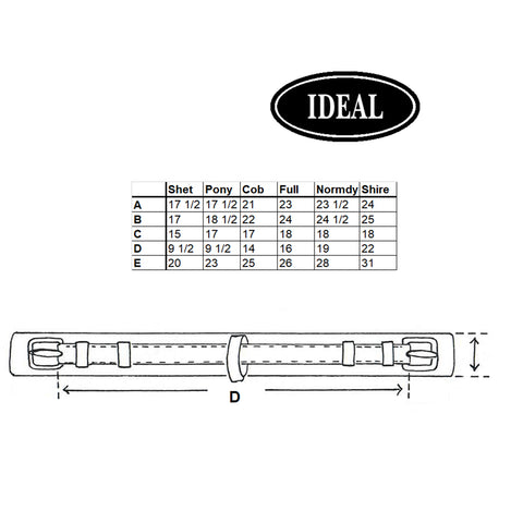 Ideal Leathertech Girth Measurements
