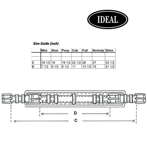 Ideal Luxe Girth Size Guide