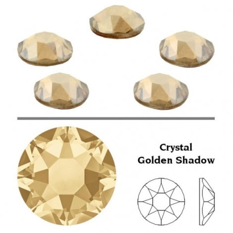 156 - Cristaux SWAROVSKI SS16 Crystal Golden Shadow