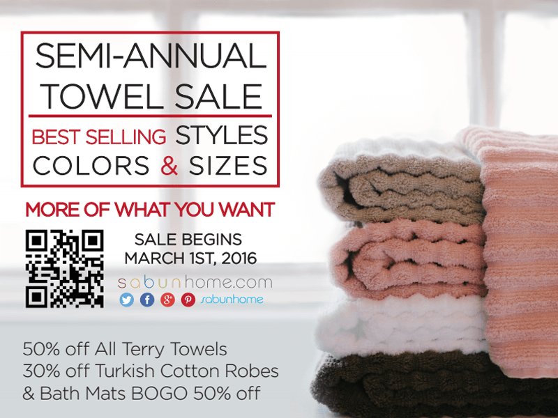 March 2016 Towel Sale