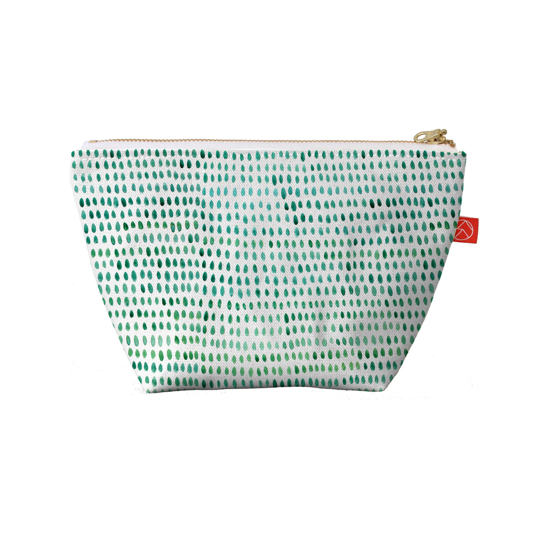 Green Spots Travel Pouches