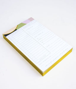 Deco Schedule Chunky List Pad
